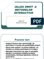 Analiza Swot a Metodelor Interactive