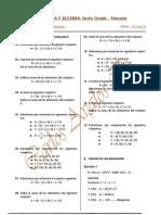 6º primaria   Älgebra y Aritmética.....envío 01