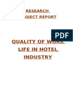 Quality of Work Life in Hotel Industry 164