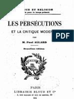 Les Persecutions et la critique moderne