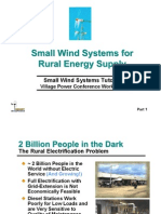 Small Wind Systems for Rural Energy Supply