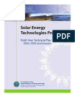Solar Energy - Technologies Plan