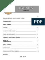 Agenda  4-9-2013