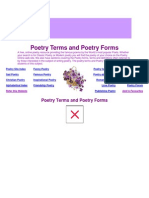 Poetry Terms and Poetry Forms