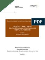 DIAGNÓSTICO PARTICIPATIVO DE LAS NECESIDADES FORMATIVAS Y LAS OFERTAS DE FORMACIÓN