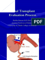 Renal Transplant Evaluation Process