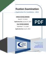 CTR Exam Handbook 2013 National Cancer Registrars Association.