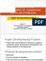Hindrance to the Management of Classroom Discipline Problems