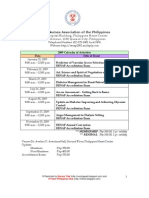 RENAP 2009 Training Schedules