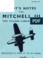 Pilot's Notes for Mitchell III. Two Cyclone R-2600-29 Engines (1945)