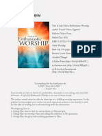 A Life of an Enthusiastic Worship (Book Review)