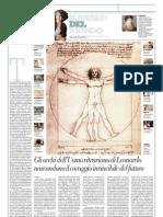 IL MUSEO DEL MONDO 15 - Uomo Vitruviano Di Leonardo Da Vinci - La Repubblica 07.04.2013