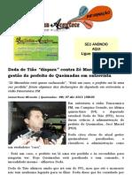 Doda de Tião dispara contra Zé Maranhão e critica gestão do prefeito de Queimadas em entrevista