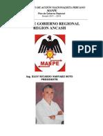 Plan de Gobierno Regional - Región Ancash - MANPE (2011-2014) - Elecciones Municipales y Regionales 03-10-2010