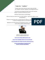 Job Duties and Tasks For