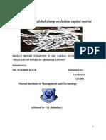 133549516 Impact of Recent Global Slump on Indian Capital Market Docx