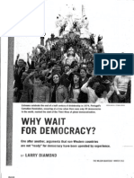 Why Wait for Democracy - Larry Diamond