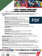 Caulk Sealant Application Instructions
