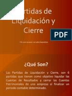 Partidas de Liquidación y Cierre (1)
