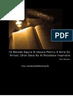 16 Metode de a Scrie Un Articol