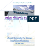SIEMENS Analysis of Financial Statement