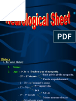 Neurological Sheet