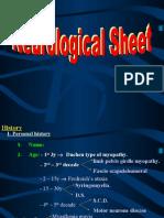 Neurological Sheet