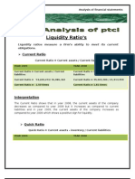 Ratio Analysis of PTCL