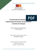 Caracterização de obstáculos na implementação de Sistemas de PCP