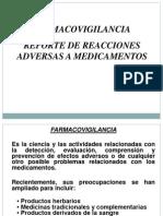 Farmacovigilancia - Reacciones Adversas a Medicamentos