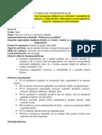 Modele PROIECT de LECTIE Operationalizarea Obiectivelor