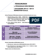 Pengumuman Krs Remidi 2012-2013