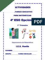 Actividades de refuerzo educativo para 4º ESO 1ª evaluación