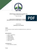 INFORME DE CENTRALES ELÉCTRICAS