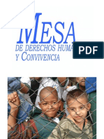 Informe Mesa de DD. HH. y Convivencia, Comuna Seis