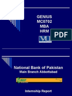 National Bank Internship Report for VU - www.noumanali.com