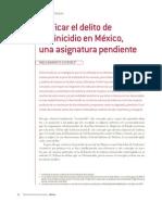 Tipificar el delito de feminicidio en México, una asignatura pendiente