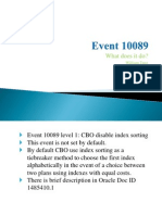 Event 10089 - CBO disable index sorting