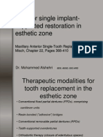 anterior single implant supported restoration in esthetic zone.ppt