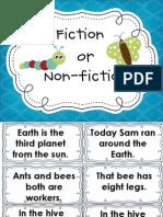 Fiction and Non Fiction Sentences