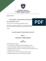 Ligji për Zgjedhjet e Përgjithshme në Republikën e Kosovës