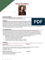 Diana Boultbee CV