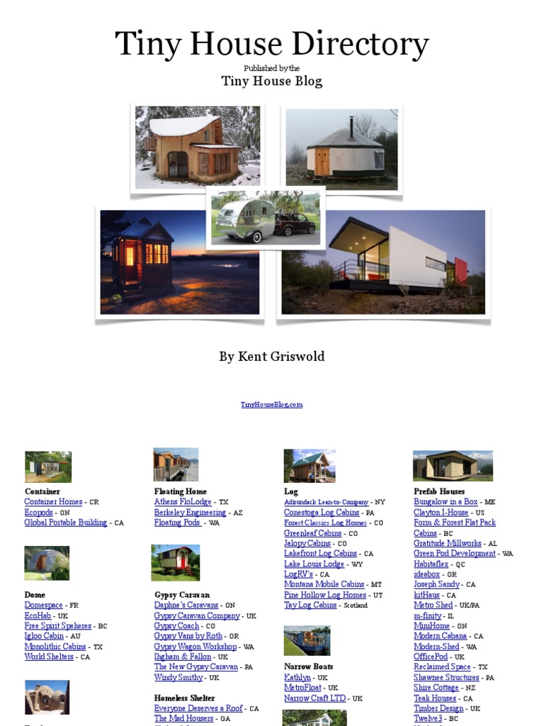 Tiny House Directory V3 Log Cabin Architectural Design