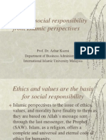 Ethic and Social Irresponsibility from Islamic Point of View
