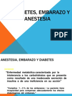 Anestesia, Embarazo y Diabetes