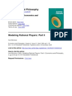Binmore Modeling Rational Players II