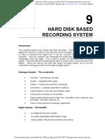 Hard Disk Based Recording System