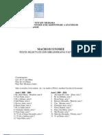 Macroeconomie Texte Selectate Din Bibliografia Facultativa