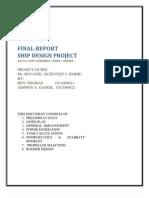 Design of 115000 DWT Tanker