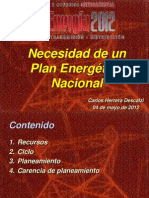 01-Necesidad de un Plan Energético.-Ing Carlos Herrera D.